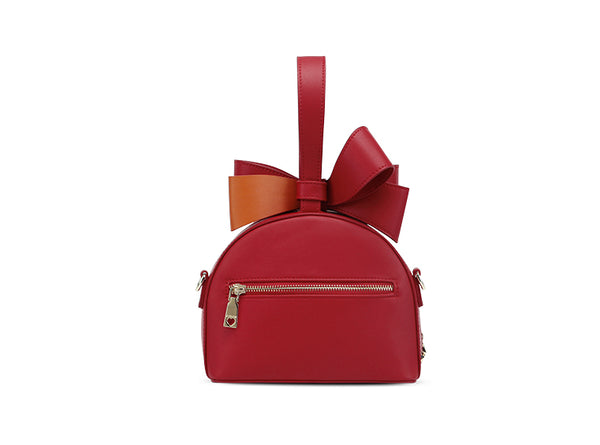 CUSHOW CROSS BODY BAG WITH RIBBON DETAIL C91665 RED