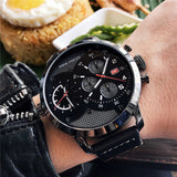 MINIFOCUS LARGE DIAL CASE FUNCTIONAL WATER PROOF WATCH