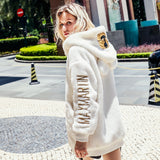 MAXMARTIN OVERSIZE ZIP UP HOODIE FAUX FUR - boopdo