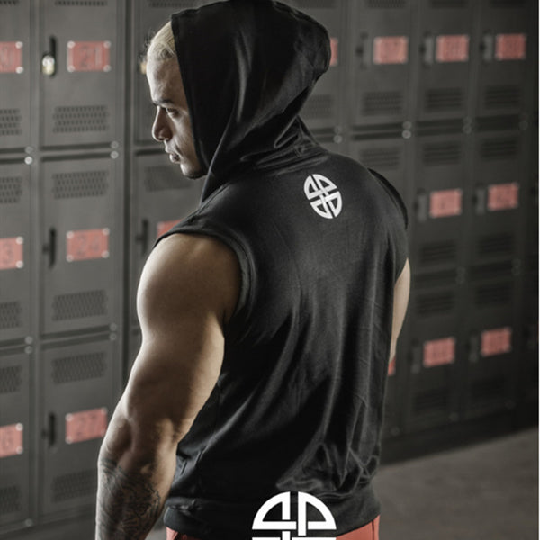 RAGNAX MUSCLE BROTHEX SLEEVELESS HOODED TANK TOP T SHIRT - boopdo
