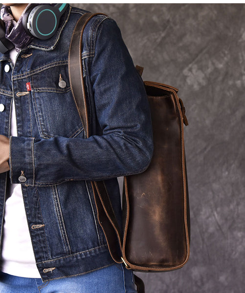 TWENTY FOUR STREET RETRO ARTIFACT WATER PROOF LEATHER BACKPACK - boopdo