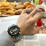 NAVIP FORCE LARGE DIAL CASE MULTI FUNCTION WATERPROOF WATCHES - boopdo