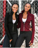 FIRM ABS HIGH NECK BREATHABLE RUNNING JACKET