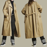 YOHJA OMIE KOREAN URBAN STYLE MID LENGTH UNISEX WINDBREAKER OVER COAT - boopdo