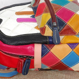 MOLIA MOUSE MICKELA LEATHER BACKPACK IN MULTI COLOR