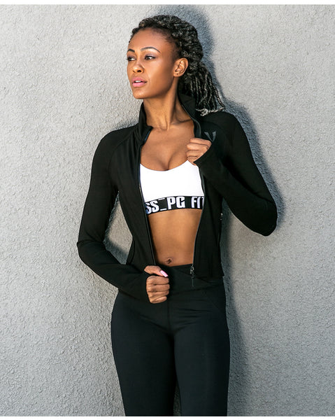 ELITE ABS HIGH NECK BREATHABLE RUNNING JACKET - boopdo