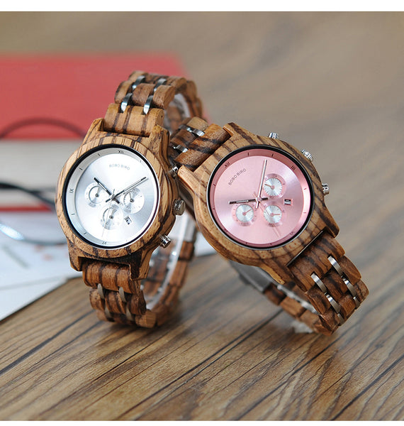 BOBO BIRD BAMBOO MULTI FUNCTIONAL WOODEN WATCH - boopdo