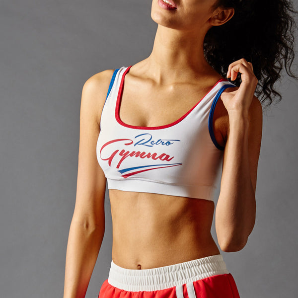 GYMNA RETRO STRIPE LOGO DESIGN BRALET