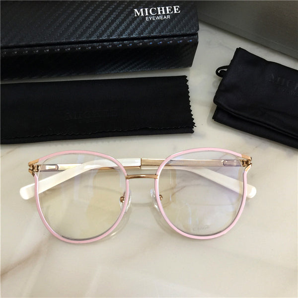 COSEE MICHE EYE WEAR ANTI BLUE LIGHT METAL FRAME TRANSPARENT GLASSES - boopdo