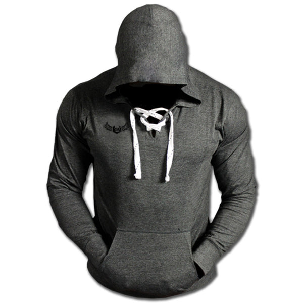 MUSCLE MIRAX SPORTS BODYBUILDING LACE UP SWEATSHIRT