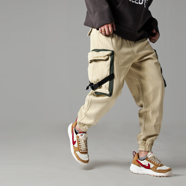 AMI HURRICANE THREE DIMENSIONAL LARGE POCKET CARGO  JOGGER PANTS