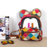 MOLIA MOUSE MICKELA LEATHER BACKPACK IN MULTI COLOR - boopdo