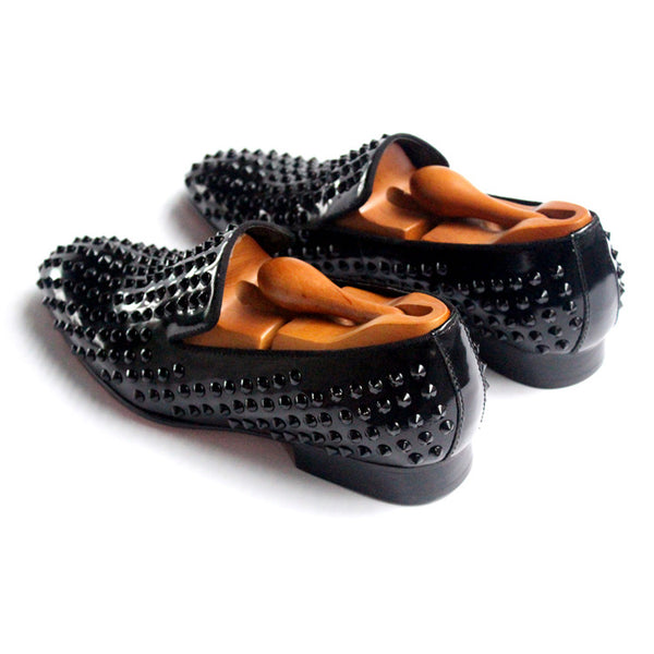 JINIWU VANGUARD HANDMADE LOAFER LEATHER SHOES IN BLACK
