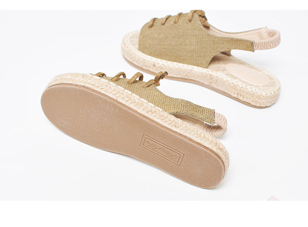 BOOPDO DESIGN ESPADRILLE CHUNKY SANDALS