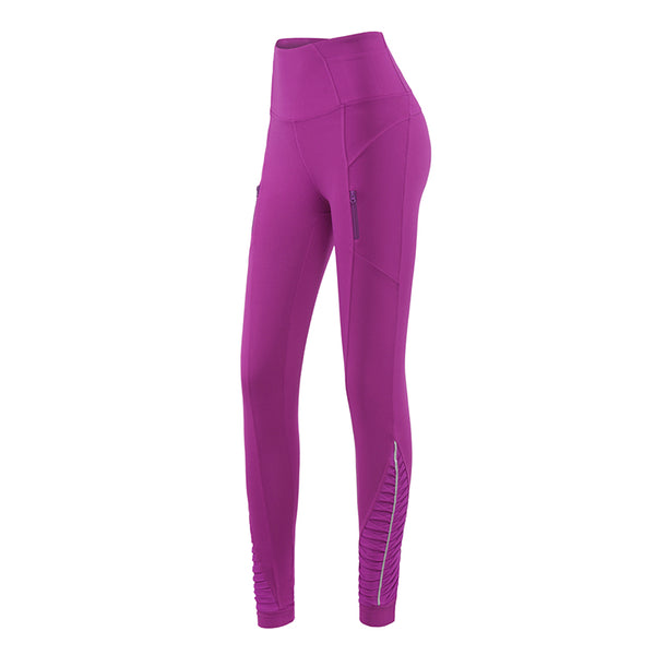 MIP TRAINING LEGGINGS WITH SIDE ZIPS IN ROSE PINK