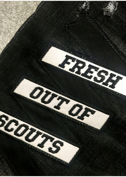 FRESH OUT OF SCOUTS DSQTWO WASHED DENIM JEAN PANTS