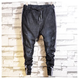 TYPHOON SOCIAL SPIRIT GUY STRIPED SLIM DENIM JEAN JOGGER PANTS