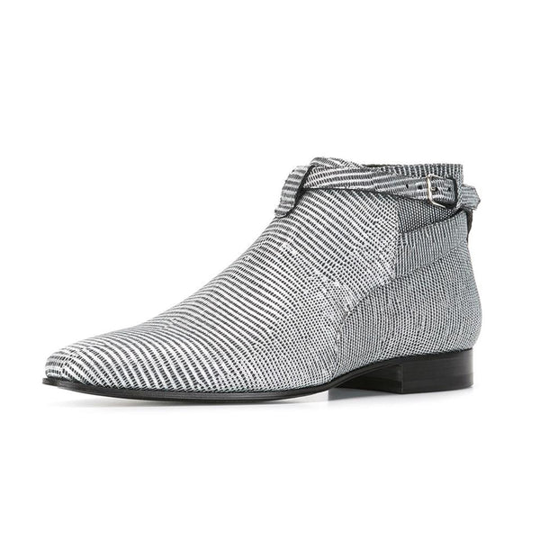 METCOXIE BUCKLED LOW ANKLE CHELSEA BOOTS - boopdo