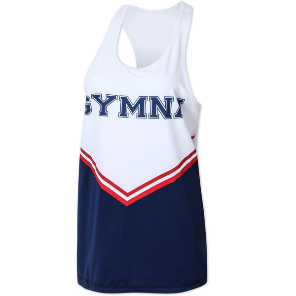 GYMNA LOGO PRINT COLOR BLOCK TANK TOP - boopdo
