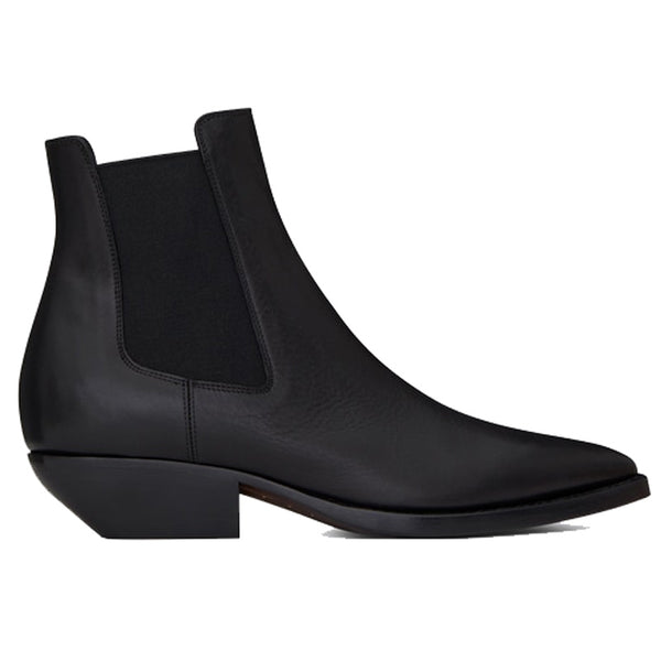 NADEMILI SUEDE SHEEPSKIN TOE POINTED LEATHER CHELSEA BOOTS
