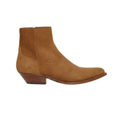 NADEMILI COWBOY TOE POINTED CHELSEA ANKLE BOOTS - boopdo