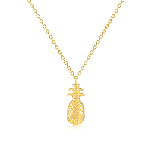 LITTLE JOY GOLD PINEAPPLE PENDANT STERLING SILVER NECKLACE