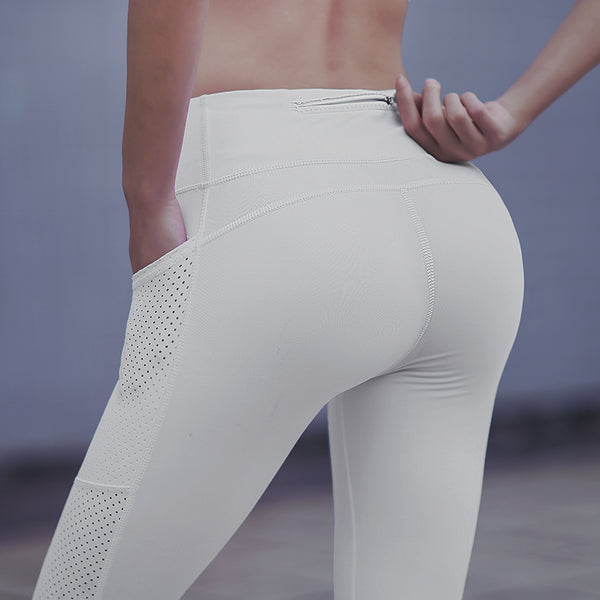 MIP GYM LEGGINGS WITH MESH PANEL KNIT LEGGINGS