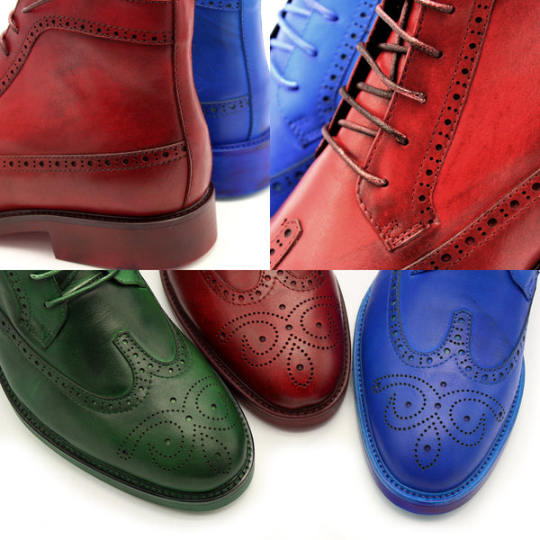 JINIWU VANGUARD HAND PAINTED CARVED STYLE LEATHER BOOTS - boopdo