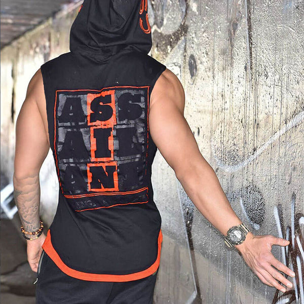 MUSCLE MIRAX ASSAILANT STRENGTH AND HONOR HOODED T SHIRT - boopdo