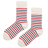 SEVEN DAYS RETRO STRIPE DESIGN SOCKS ZQ - boopdo