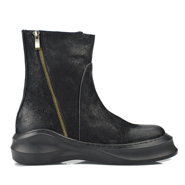 PINSHAN RAMTEX HIGH TOP THICK SOLED BOOTS