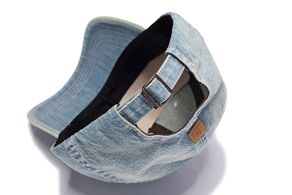 CHUNGLIM SPLASH BROS CURVED DENIM JEAN CAPS - boopdo