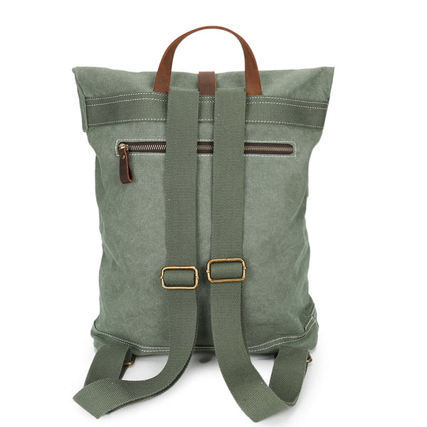 CANVAS LEATHER LEISURE COLLEGE CASUAL UNISEX BAG - boopdo