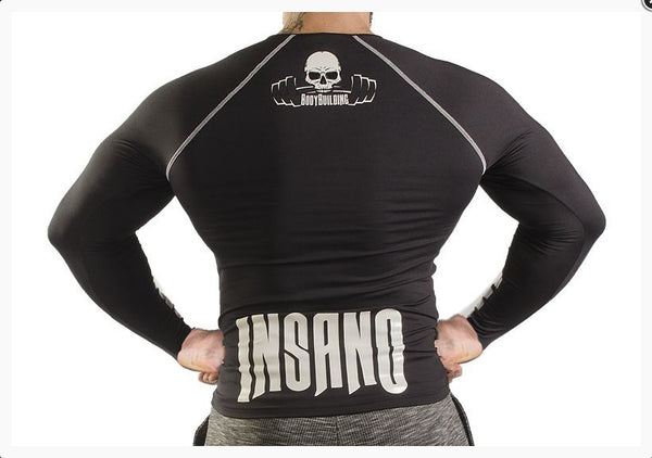 BODYBUILDING INSANO EQUIPMENT FITNESS TIGHT LONG SLEEVED ELASTIC T SHIRT