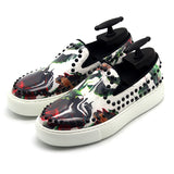 JINIWU VANGUARD HAND PAINTED THICK SOLE CASUAL SNEAKER WITH RIVET - boopdo