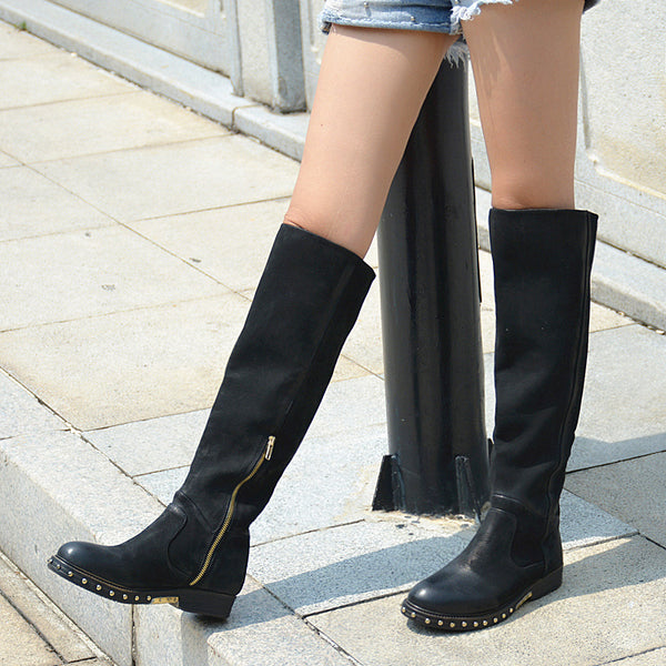 PROVAPERFETTO WIDE FIT KNEE HIGH RIDING BOOTS IN BLACK