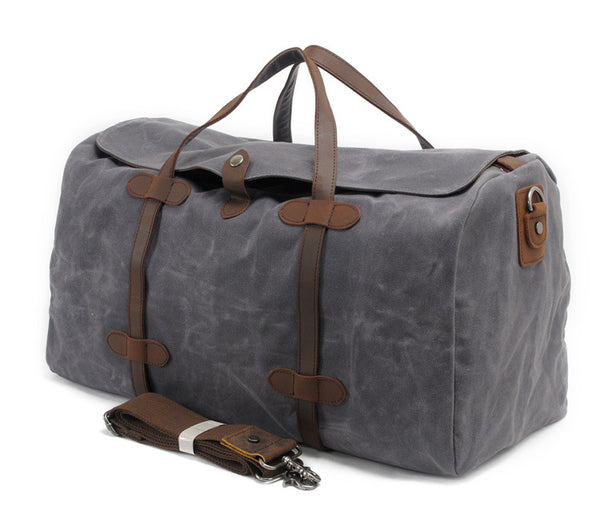 MUCHUAN CANVAS WATERPROOF LARGE CAPACITY TRAVEL BAGS - boopdo