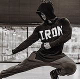FAREX FITNESS IRON FITNESS EQUIPMENT PULLOVER HOODIE - boopdo