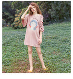 JAM PRINCESS OVERSIZED T SHIRT DRESS WITH CUT OUT SHOULDER DESIGN