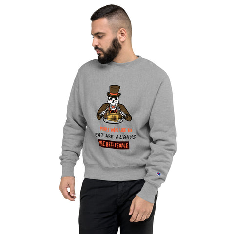 PEOPLE WHO LIKE TO EAT HUMOUR DESIGN CHAMPION SWEATSHIRT - boopdo