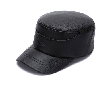 00% Genuine Leather Captain Sailor Caps