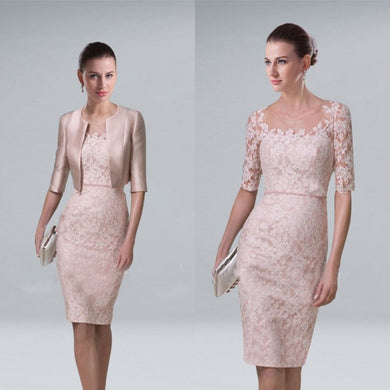 Elegant Mother of the Bride Groom Lace Dress
