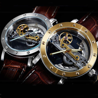 Mechanical Luxury Brand Leather Watch