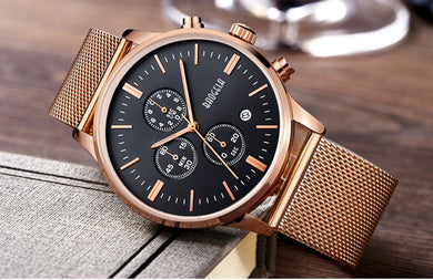 Mens Chronograph Stainless Steel Mesh Watch