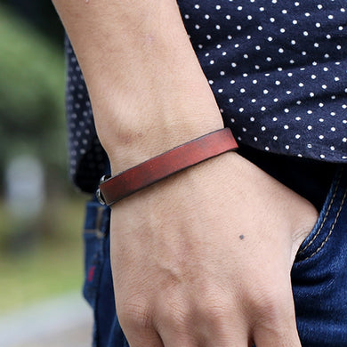 Unisex Simple Genuine Leather Bracelets