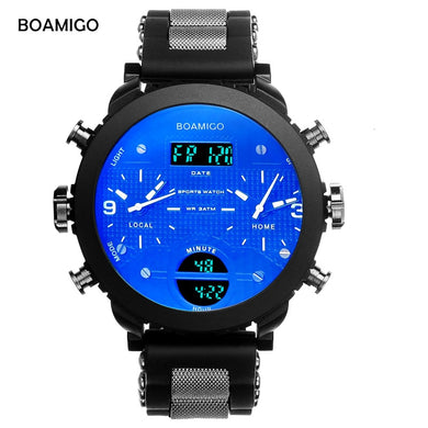 3 Time Zone LED Digital Watch
