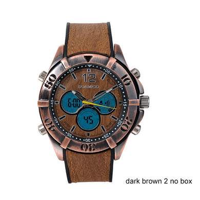 Men Sports Wood Design Wristwatch