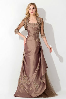 Mother Of The Bride Dresses With Lace Jacket Strapless