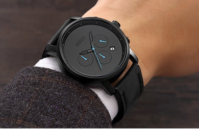 Men's Simple Design Chronograph Quartz Watches