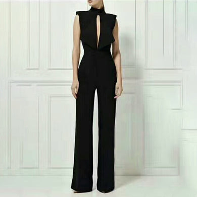 High Waist Maxi Wide Leg Jumpsuit